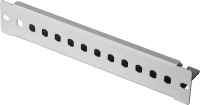 "BKT patch panel 12 x ST, 10"" - unequipped RAL 7035 GREY"