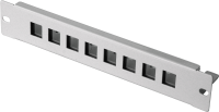 "BKT patch panel 8 x RJ45, 10"" - unequipped RAL 7035 GREY"