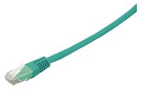Patchcord BKT U/UTP cat.6 LSOH GREEN RJ45 molded plug 1m