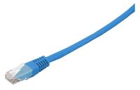Patchcord BKT U/UTP cat.6 LSOH BLUE RJ45 molded plug 0,5m