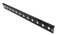 "BKT front plate 1U 12xSC simplex/ MTRJ/ E2000 RAL 9005 ""Veni"""