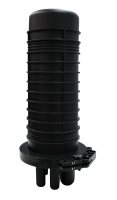 BKT fiber optic enclosure for 144 splices full set (6 cassettes x 24 splices + splice protectors) 1 oval gap, 4 round gaps