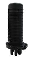BKT fiber optic enclosure for 96 splices full set (4 cassettes x 24 spawy + splice protectors) 1 oval gap, 4 round gaps
