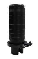 BKT fiber optic enclosure for 24 splices full set (2 cassettes x 12 splices + splice protectors) 1 oval gap, 3 round gaps