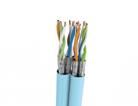 Cable U/FTP LSHF cat.6A BKT 585 DUPLEX wire BLUE 23AWG (500m)