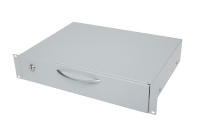 """BKT retractable shelf (sliding) for keyboard and mouse, 19"""" o depth 350 mm, height 2U, with lock,RAL 7035 GREY"""