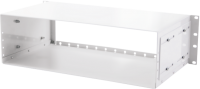 "BKT fiber optic patch panel 3U/19"" for LGX modules RAL 7021 Alfa"