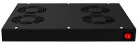 BKT ventilation panel 4 x fan, roof/rack mounted+thermostat 1U BLACK
