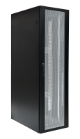 BKT server cabinet 4DC 42U, 600/1000/1980 (W/D/H mm), front and back door identical perforated, RAL 9005 BLACK, (welded frame-capacity 1500 kg)
