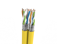 Cable S/FTP FRNC cat.7 BKT 695 DUPLEX wire YELLOW 23AWG (500m)