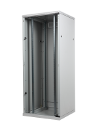 "BKT cabinet SRS ECO 42U, 600/600/1980 (W/D/H mm) full glass door, RAL 7035 ""ECO"" (welded frame-capacity 600 kg)"