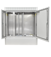 "19"" BKT outdoor cabinet MFG type 12, 1300/500/1500 (W/D/H mm) RAL 7038 IP55 (double chamber, double leaf door)"