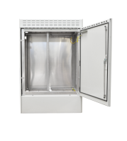"19"" BKT outdoor cabinet MFG type 8, 1000/500/1500 (W/D/H mm) RAL 7038 IP55 (one chamber, single leaf door)"