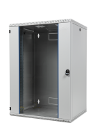 """BKT wall hanging cabinet double section """"TOP"""" 15U, 600/600/730 (W/D/H mm), RAL 7035 (welded construction-capacity 50 kg)"""