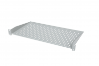 "BKT fixed shelf 19"", 1U, depth 250 mm, mounted on the front RAL 7035 GREY"