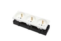 Socket BKT 3x(2P+T) 6 modules M45 WHITE