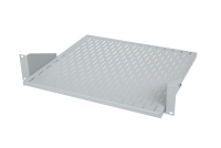 "BKT fixed shelf 19"" depth 400 mm, 2U, mounted on the front with a sliding tray RAL 7035 GREY"