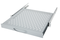 """BKT retractable shelf (sliding) BKT 19"""",1U, depth 300mm, mounted at 4 points RAL 7035 GREY"""