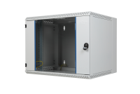 """BKT wall hanging cabinet double section """"TOP"""" 12U, 600/500/600 (W/D/H mm), RAL 7035 (welded construction-capacity 50 kg)"""