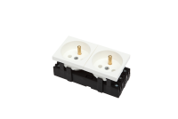 Socket BKT 2x(2P+T) 4 modules M45 WHITE