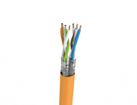 Cable S/FTP LSHF cat.7 BKT 1000 wire ORANGE 23AWG (1000m)