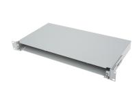 "BKT fiber optic patch panel sliding 1U/19"" RAL 7021 ""Veni"""