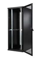 "BKT server cabinet SRS 42U, 600/1000/1980 (W/D/H mm), front and back door identical single leaf perforated metal, RAL 7021 BLACK, ""TOP III"" (welded frame-capacity 1000 kg)"