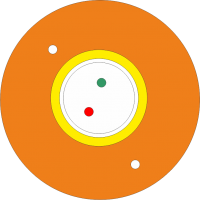 "Kabel FO BKT abonencki typu ""DAC"" 8E/125 G657A1 pomarańczowy PP 1200N"