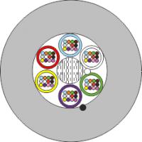 Mikrokabel FO BKT 96E/125 8x12 6,8 mm 1000N