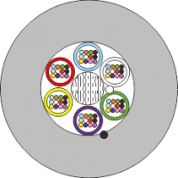 Mikrokabel FO BKT 24E/125 2x12 5,8 mm 1000N