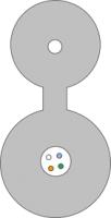 Kabel FO BKT z linką nośną FRP centralna tuba 12E 9/125 1500N