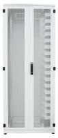 """Przełącznica stojakowa BKT ODF 42U 19"""" 900/400/1980 drzwi dwuskrzydłowe perforowane (1x600+1x300) RAL 7035"""