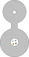 Kabel FO BKT z linką nośną FRP centralna tuba 4E 9/125 1500N