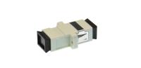 Adapter SC MM simplex plastic beżowy
