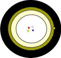 Mikrokabel FO PRYSMIAN 12E 9/125 G657A.1 2,5mm 80N