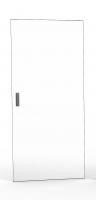 Drzwi jednoczęściowe pełne szkło, 42U 600 mm szer. wyposażone w 2 zamki jedno punktowe i zawiasy, RAL 7035 szary