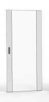Drzwi jednoczęściowe blacha/szkło, 42U 800 mm szer. wyposażone w zamek 1-punktowy i zawiasy, RAL 7035 szary