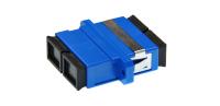 Adapter BKT SC SM duplex plastic niebieski