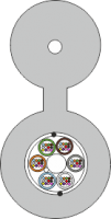 Kabel FO BKT z linką nośną FRP 72E (6x12) 9/125 2000N