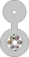Kabel FO BKT z linką nośną FRP 144E (12x12) 9/125 2000N
