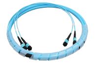 Kabel BKT 24F (2x12F) MPO żeński - MPO żeński OM4, Typ A, Low Loss, 1m, LSOH, kabel okrągły 9 mm