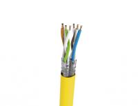 Kabel S/FTP LSHF kat. 7A drut melonowo żółty UC1500HS 22 Draka (1000m)