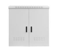 """Szafa zewnętrzna BKT 19"""" 15U 800/450 (szer/gł) IP55 RAL7035 (aluminiowa, jednopłaszczowa, jednokomorowa, jednodrzwiowa)"""