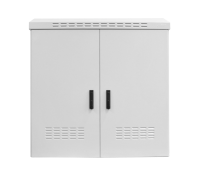 """Szafa zewnętrzna BKT 19"""" 22U 1200/800 (szer/gł) IP55 RAL7035 (aluminiowa, jednopłaszczowa, dwukomorowa, dwudrzwiowa)"""