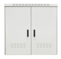 """Szafa zewnętrzna BKT 19"""" 15U 800/450 (szer/gł) IP55 RAL7035 (aluminiowa, dwupłaszczowa, jednokomorowa, jednodrzwiowa)"""