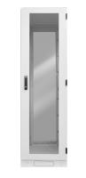"""Szafa przemysłowa BKT IP54 19"""" 32U 800/800/1640 (Szer/Gł/Wys) RAL7035 drzwi przód-tył blacha-szkło (profil stalowy) - bez jednej ściany"""
