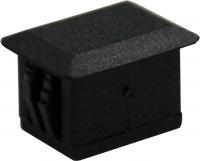 Zaślepka otworu SC Simplex czarna z tworzywa, prostokątna