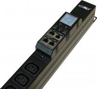 Listwa monitorująca BKT BPS2000 18xIEC320 C13 + 6xIEC320 C19, wtyk IEC 60309 32A/400V, 1xPort Temperatury/Wilgotności, dł.listwy L=1383mm, kabel 3.0m