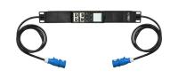 Uniwersalny moduł monitoringu zasilania jednofazowego BKT BPS2500, gniazdo 1xIEC60309 16A/250V (na kablu), wtyk 1xIEC60309 16A/250V (na kablu), kabel 2.0m