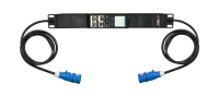 Uniwersalny moduł monitoringu zasilania jednofazowego BKT BPS2500, gniazdo 1xIEC60309 32A/250V (na kablu), wtyk 1xIEC60309 32A/250V (na kablu), kabel 2.0m